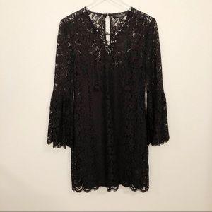 NWT Rachel Zoe Megali BOHO style dress Black Sz 10